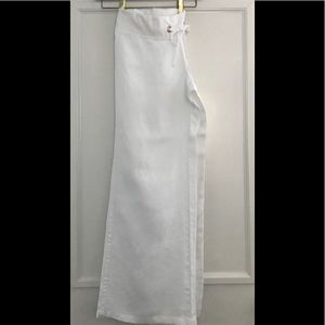 EUC LILLY PULITZER WHITE LINEN BEACH PANT MED